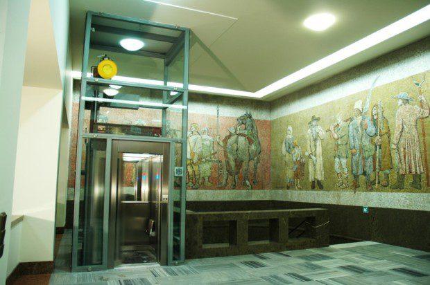 Konstrukce atypického osobního výtahu v Památníku Vítkov
