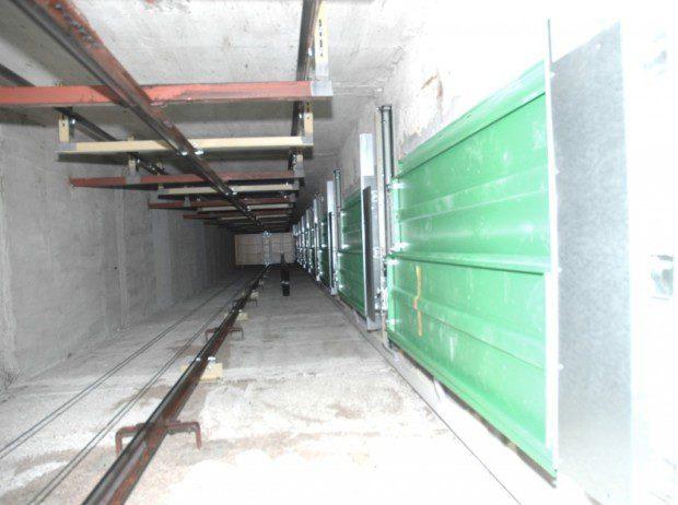 Betonová šachta lanového výtahu