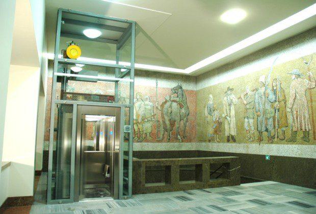 Památník Vítkov, osobní panoramatický výtah
