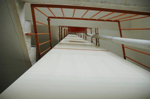 Opláštněí šachty výtahu v panelovém domě