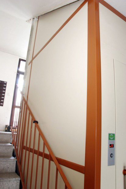 Nová výtahová šachta
