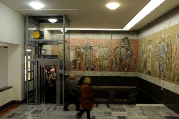 Osobní výtah, Památník Vítkov