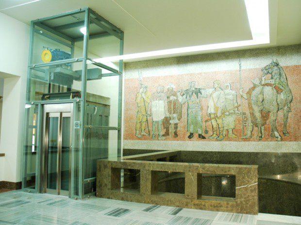 Prosklený výtah na Vítkově